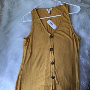 NWT Yellow Sleeveless Dress by Charming Charlie XS